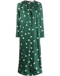 Chinti & Parker ポルカドット ドレス - グリーン