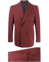Tonello Zweiteiliger Anzug - Rot