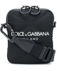 Dolce & Gabbana Logo-print Messenger Bag - Black
