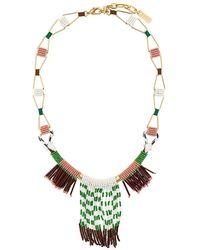 Rada' - Fringed Elongated Necklace - Lyst
