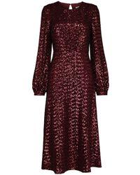 Borgo De Nor Zelda スパンコール ドレス - レッド