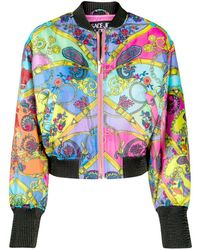 Versace Jeans Couture - ペイズリー ボンバージャケット - Lyst