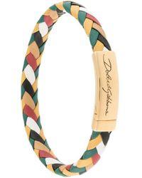Dolce & Gabbana Плетеный Браслет С Логотипом - Металлик