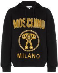 Moschino Logo Hoodie - Black