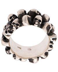 Werkstatt:münchen Multiple Skulls Ring - マルチカラー