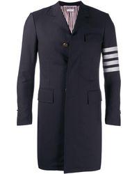 Thom Browne 4-bar Plain Weave Suiting Overcoat - Multicolour
