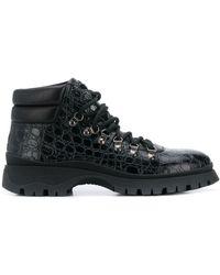 Prada Wandellaarzen Met Textuur - Zwart