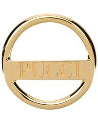 Emilio Pucci Logo-engraved Scarf Ring - Metallic