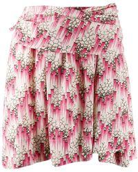 Isabel Marant Minirock mit Print - Pink