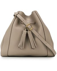 Mulberry Millie Drawstring Small Tote - Gray