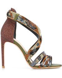 Sophia Webster Crystal-embellished Sandals - Коричневый