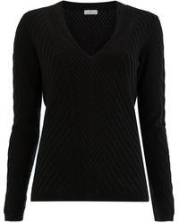 Maison Ullens Cashmere Ribbed Knitted Jumper - Black
