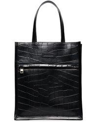 Alexander McQueen レザーハンドバッグ - ブラック