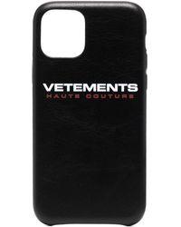 Vetements Чехол Для Iphone 11 Pro С Логотипом - Черный