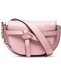 Loewe Маленькая Поясная Сумка Gate - Розовый