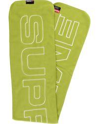 Supreme Polartec Logo Scarf - Yellow