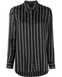 Theory Chain Print Long-sleeved Shirt - Black