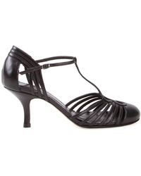 Sarah Chofakian Chamonix Leather Sandals - Черный