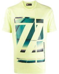 Z Zegna ロゴプリント Tシャツ - マルチカラー