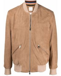 Paul Smith Chaqueta bomber con ribete de canalé - Neutro