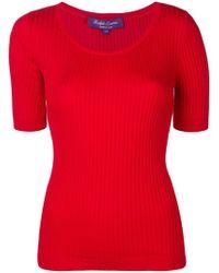 Ralph Lauren Collection - Ribbed T-shirt - Lyst
