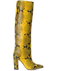 Paris Texas - Snakeskin Print Boots - Lyst