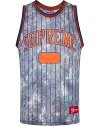 Supreme Jersey de baloncesto teñido - Azul