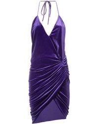 Alexandre Vauthier Ruched Mini Dress - パープル