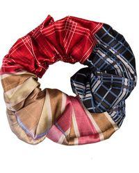 Ganni Check Print Scrunchie - Multicolour
