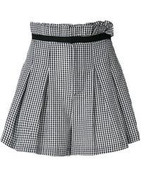 Kendall + Kylie - Vichy Print Shorts - Lyst