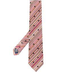 Paul Smith Polka Dot Print Tie - Red