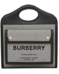 Burberry ポケット バッグ ミニ - ブラック