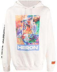 Heron Preston Heron プリント パーカー - ホワイト