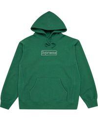 Supreme Sudadera con logo de x KAWS - Verde