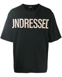 N°21 スローガン Tシャツ - ブラック