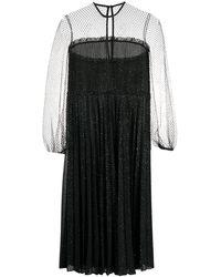 Marco De Vincenzo シアーパネル ドレス - ブラック