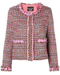 Boutique Moschino - Flower Tweed Jacket - Lyst