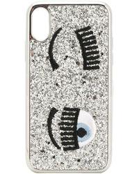 Chiara Ferragni Cover per iPhone X Flirting - Metallizzato