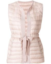 Moncler - Waist-tied Padded Gilet - Lyst