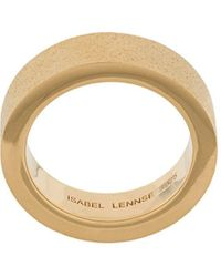 ISABEL LENNSE Frosted Band Ring - Metallic