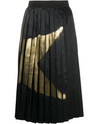 Golden Goose Deluxe Brand 'Riley' Faltenrock mit Stern-Print - Schwarz