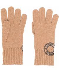 Burberry Logo Print Gloves - Brown