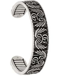 Gucci - Double G And Leaf Bracelet - Lyst