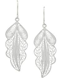 Wouters & Hendrix - Filigree Leaf Earrings - Lyst