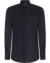 Dolce & Gabbana Klassisches Leinenhemd - Blau