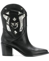 Pinko - Cowgirl Ankle Boots - Lyst