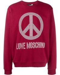 Love Moschino - Peace & Love スウェットシャツ - Lyst