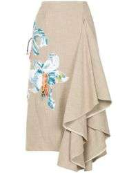 Romance Was Born - Ritual Embroidered Skirt - Lyst