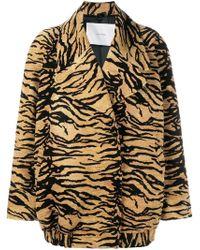 Adam Lippes - Tiger Print Jacket - Lyst