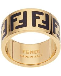 Fendi Ring Met Monogram - Metallic